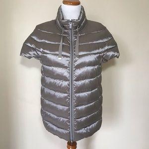 Martha Stewart Down Short Sleeve Puffer Jacket NWT